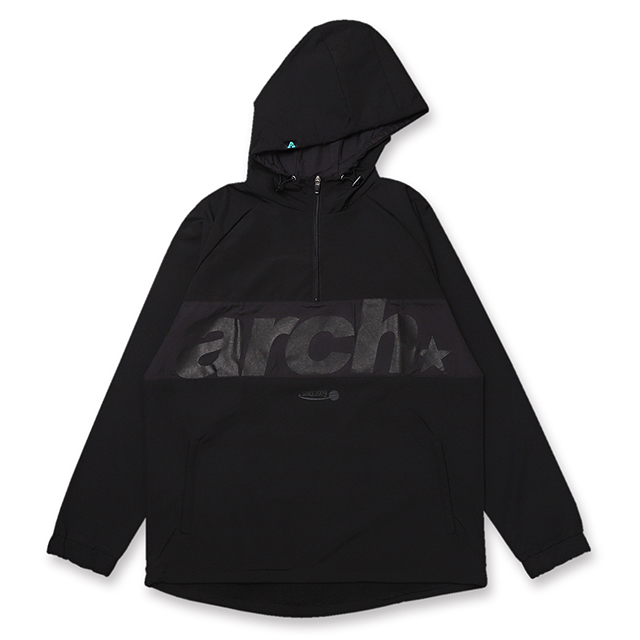 Arch sporty logo anorak jacket【black】のイメージ