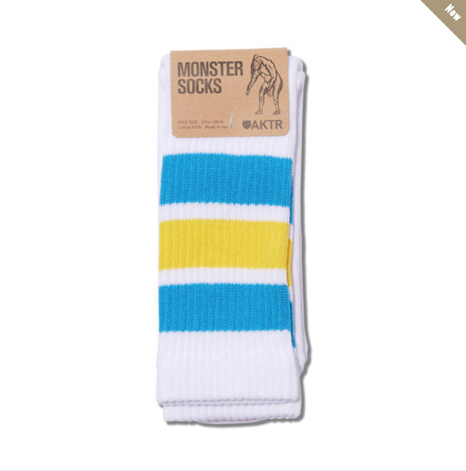 MONSTER SOCKS WHITExBLUEのイメージ