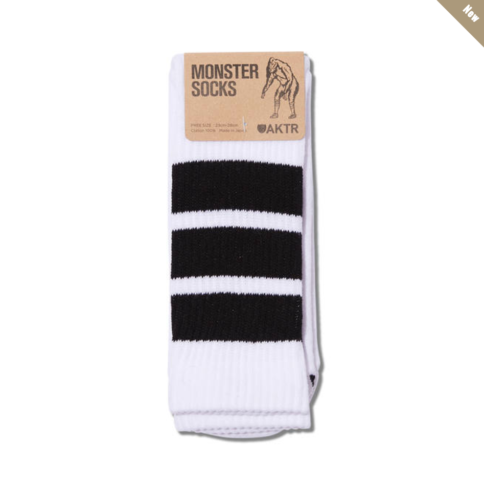 MONSTER SOCKS WHITExBLACKのイメージ