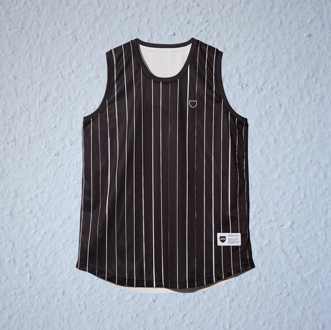 AKTR BRUSH PINSTRIPE REVERSIBLE TANK BLACKxWHITEのイメージ