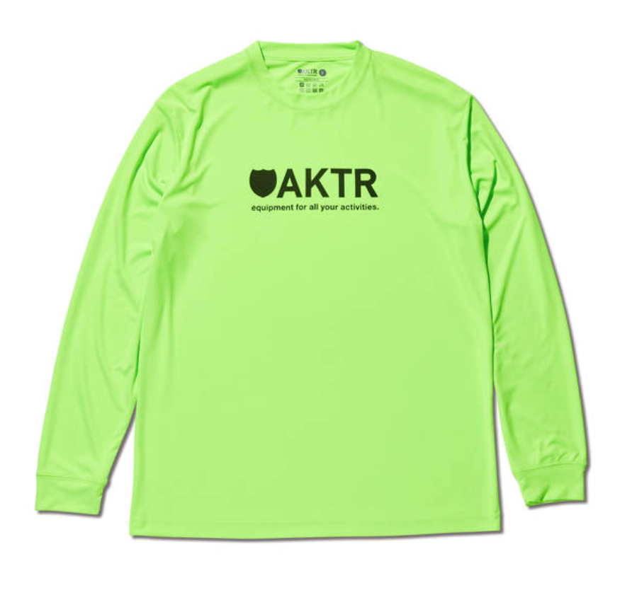 AKTR LOGO L/S SPORTS TEE YELLOWのイメージ