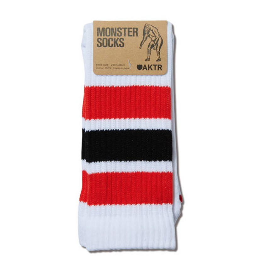 AKTR MONSTER SOCKS WHITExREDのイメージ